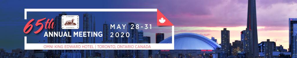 65th Annual Meeting, Omni King Edward Hotel, Toronto, Ontario, Canada, May 28-31, 2020